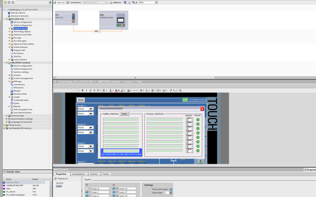 PLC programmatie & HMI visualisatie van stofafzuiging