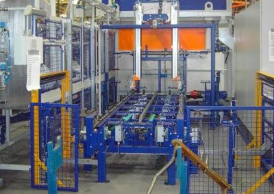 Automatische reinigingsmachine vrachtwagenassen